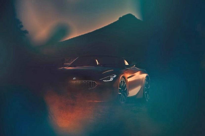 宝马发布全新Z4概念车预告图 8月17日首发亮相