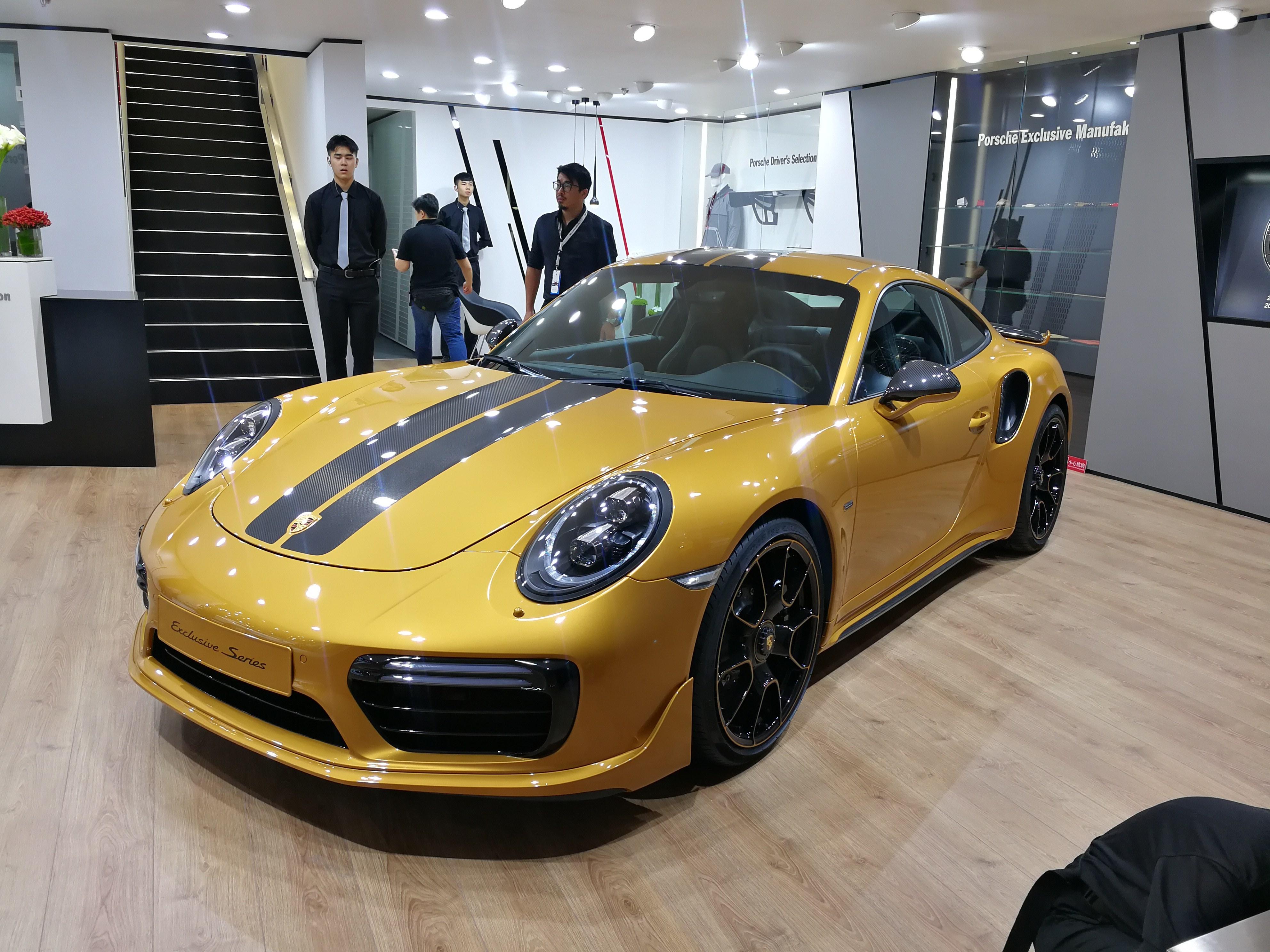 2017成都车展 保时捷911 Turbo S特别版首发