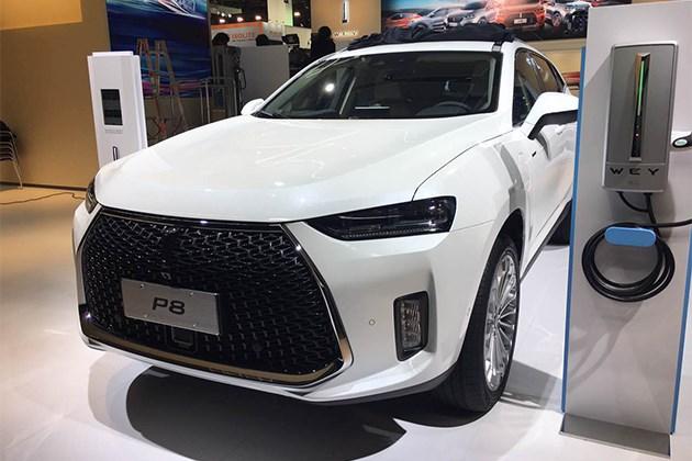 2017法兰克福车展探馆 WEY P8曝光