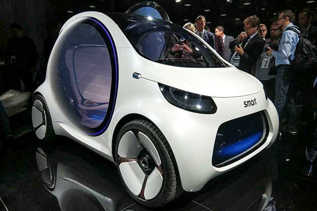 2017法兰克福车展:smart vision EQ概念车亮相/配自动驾驶