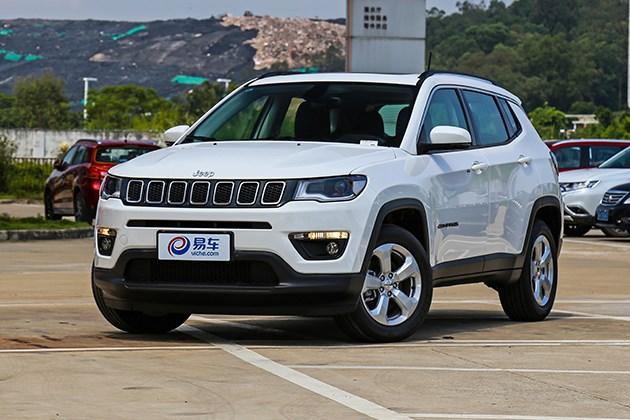 抢先实拍Jeep指南者200T悦享版 全景天窗/亮色双排气管