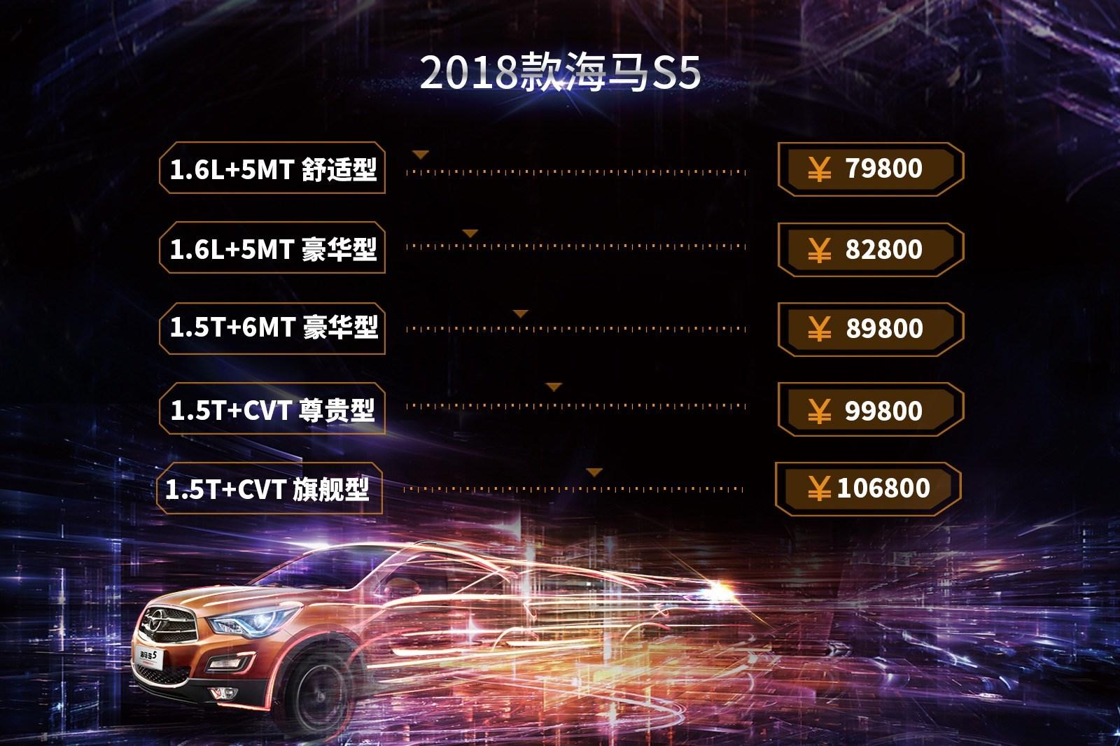 2018款海马S5虚拟上市 征战自主紧凑级SUV市场的诗与远方