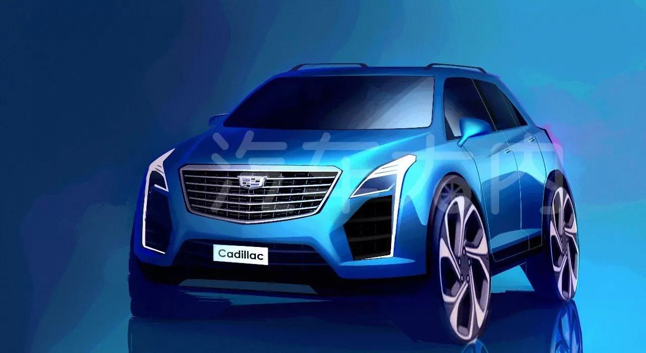 凯迪拉克XT4设计草图曝光 定位紧凑型SUV/或2018第三季度上市