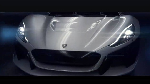 Rimac新电动超跑预告图发布 百公里加速仅需1.9秒