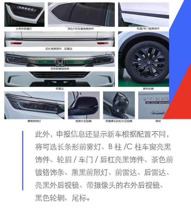 广汽本田全新SUV曝光 将搭载本田第三代混动系统
