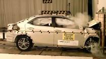 全新丰田卡罗拉 NHTSA正面碰撞测试