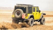 改装版Jeep牧马人 搭3.6升V6引擎爬山