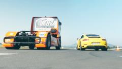 以小博大 保时捷911竞速奔驰Axor重卡