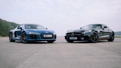 直线加速 奥迪R8狂虐奔驰AMG GT S