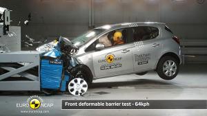 欧宝Corsa E-NCAP碰撞测试