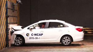 风神L60 C-NCAP碰撞测试