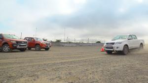三大皮卡刹车距离测试