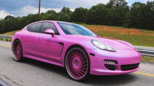 Panamera改装撩人粉色