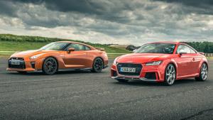 直线加速 GT-R对比TT RS