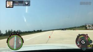 宝马530Li xDrive 绕桩测试