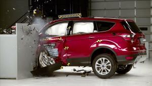 2017款福特翼虎 IIHS正面25%碰撞测试