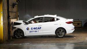C-NCAP碰撞测试 北京现代领动获5星