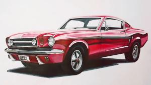 重温经典 传神手绘1965年福特野马GT