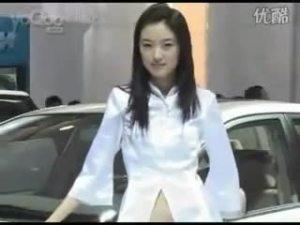 北京车展丰田展台的超清纯美女模特