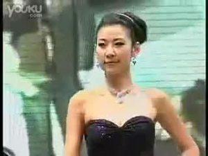上海车展中吉利车模的精彩表演