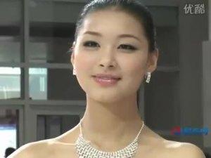 2010北京车展 力帆620蓝衣高贵车模