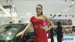 2010广州车展  江淮宾悦红衣模特