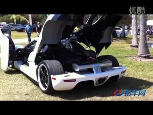 跑车柯尼赛格CCXR大秀发动机咆哮声
