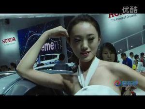 2011广州车展 本田展台锋范车模