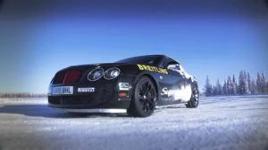 宾利车队芬兰北极圈内 冰面漂移
