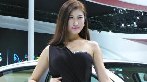 2013广州车展 奇瑞E3车模仙姿佚貌