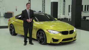 宝马也玩土豪金 全新BMW M4金光闪闪