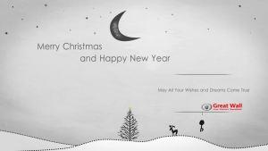 温暖有爱小清新 长城祝你新年快乐