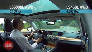 雷克萨斯LS600hL 百公里试驾评论解析
