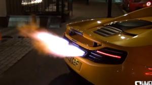 迈凯伦12C冲天火舌 发动机喷火秀