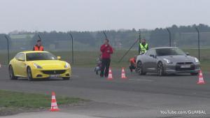 法拉利FF单挑 GT-R与迈凯轮12C