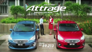 2014北京车展 三菱小型车Attrage
