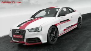 新款奥迪RS5混合动力版 赛道试驾