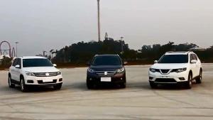 新奇骏CR-V途观 城市SUV三强对比测评