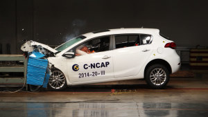 C-NCAP碰撞测试 东风悦达起亚K3S获四星