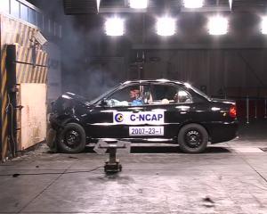 东南三菱戈蓝  C-NCAP碰撞测试