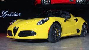 2015北美车展 阿尔法·罗密欧4C Spider