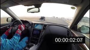 Q50L锐思圈速测试 单圈1分04秒03