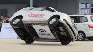开瑞K50特技表演秀 单边飞行惊险刺激
