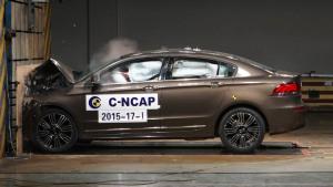 C-NCAP碰撞测试 观致3荣获5+级评定