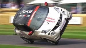 日产Juke RS Nismo 创两轮驾驶最高纪录