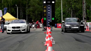 2015直线加速 宝马M6大战奔驰奥迪