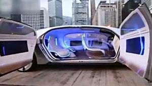 陆地惊现UFO 奔驰无人驾驶科幻概念车