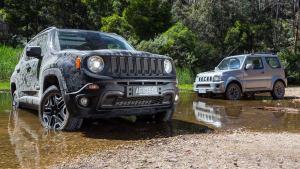 小型SUV越野战 Jeep自由侠PK铃木吉姆尼
