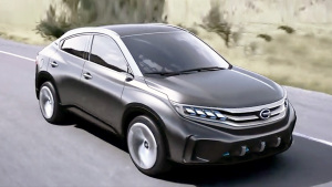 广汽传祺EV Coupe概念车 采用掀背设计