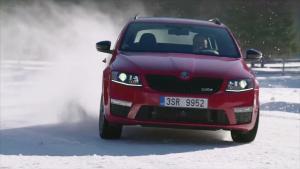 新款斯柯达明锐RS四驱版 冰雪路面漂移